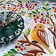 """Часы для дома ручной работы. Ярмарка Мастеров - ручная работа. Купить Часы """"Птички на рябинке"""" из стекла. Фьюзинг. Handmade."""