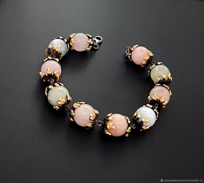 Bracelet made of beads with natural stones, Bead bracelet, Krasnodar,  Фото №1