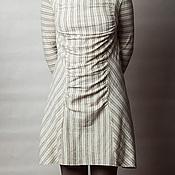 Одежда ручной работы. Ярмарка Мастеров - ручная работа Платье из трикотажа в полоску.. Handmade.