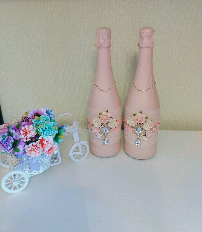 Оформление свадебных бутылок, Бутылки, Москва, Фото №1