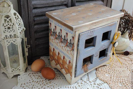 """Корзины, коробы ручной работы. Ярмарка Мастеров - ручная работа. Купить Шкафчик - ящик подставка для яиц """"Домашняя ферма"""". Handmade."""