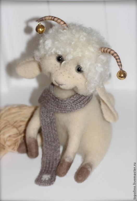 Игрушки животные, ручной работы. Ярмарка Мастеров - ручная работа. Купить Овечка Агата. Handmade. Белый, овечка игрушка
