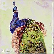 Для дома и интерьера handmade. Livemaster - original item The picture peacock