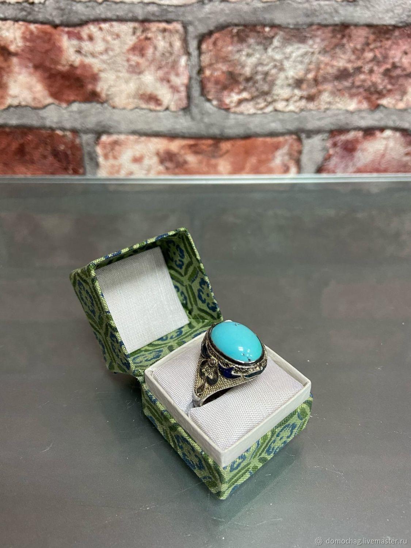 Серебряное кольцо с бирюзой, Кольца, Москва,  Фото №1