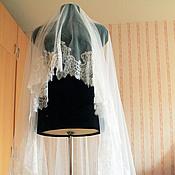Свадебный салон ручной работы. Ярмарка Мастеров - ручная работа Фата с кружевом. Handmade.