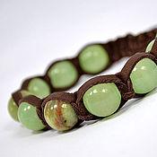 Украшения handmade. Livemaster - original item Shamballa bracelet with onyx leather. Handmade.