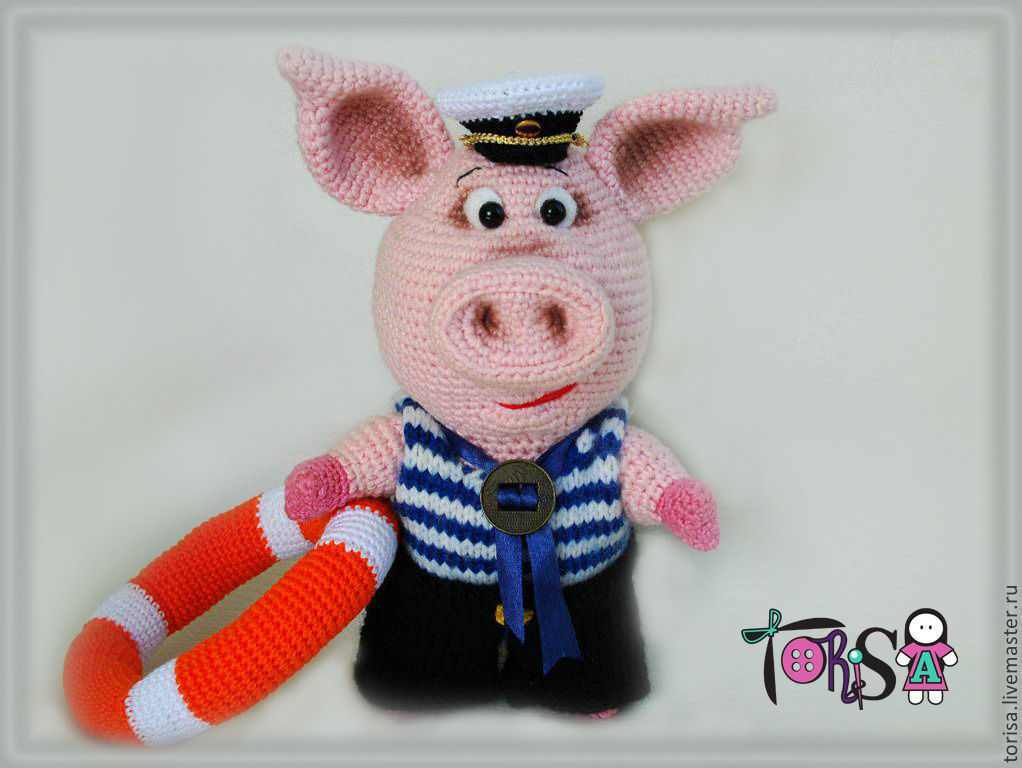 The Pig Crudely Boatswain, Stuffed Toys, Moscow,  Фото №1