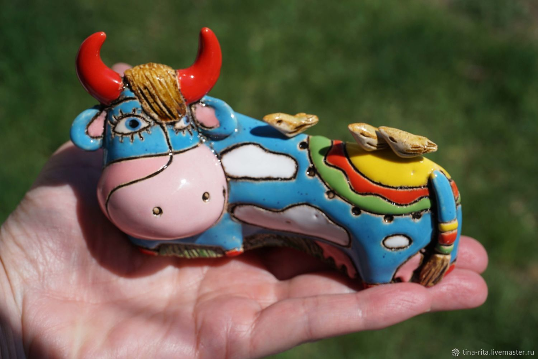Ceramic figurine ' My birds '(miniature), Model, Severobaikalsk,  Фото №1