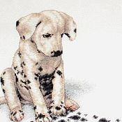 Картины и панно ручной работы. Ярмарка Мастеров - ручная работа Вышитая картина Собака Долматин Лабрадор. Handmade.