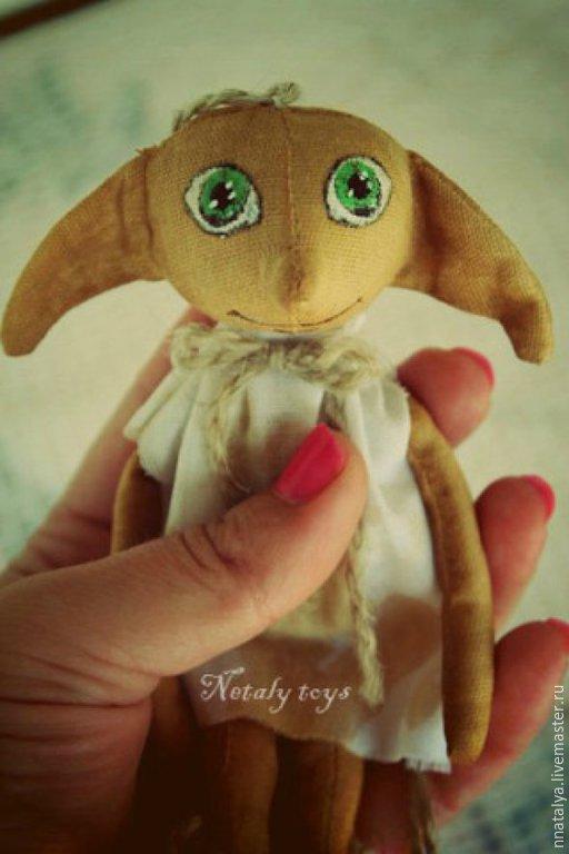 Коллекционные куклы ручной работы. Ярмарка Мастеров - ручная работа. Купить Добби маленький. Handmade. Разноцветный, добби, кукла интерьерная