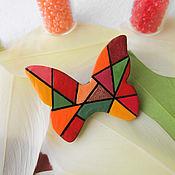 """Украшения ручной работы. Ярмарка Мастеров - ручная работа Брошь бабочка """"Геометрия"""", яркая брошь, разноцветный. Handmade."""