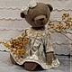 Мишки Тедди ручной работы. Ярмарка Мастеров - ручная работа. Купить Варенька. Handmade. Серый, мишка-тедди, металлический гранулят