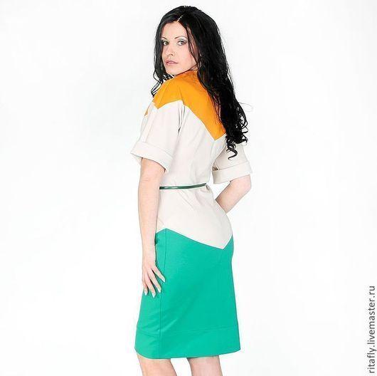 Платья ручной работы. Ярмарка Мастеров - ручная работа. Купить 231: Повседневные платья в офис, офисное платье из джерси. Handmade.