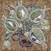 Картины и панно ручной работы. Ярмарка Мастеров - ручная работа Мозаичное панно: Цветочные фантазии - 7. Handmade.
