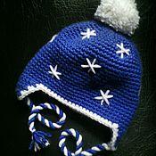 """Работы для детей, ручной работы. Ярмарка Мастеров - ручная работа Теплая зимняя шапка """"Снежинка"""" с подкладкой из флиса. Handmade."""