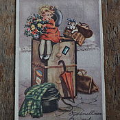 Винтаж handmade. Livemaster - original item Postcards for garland for children or for collection .... Handmade.