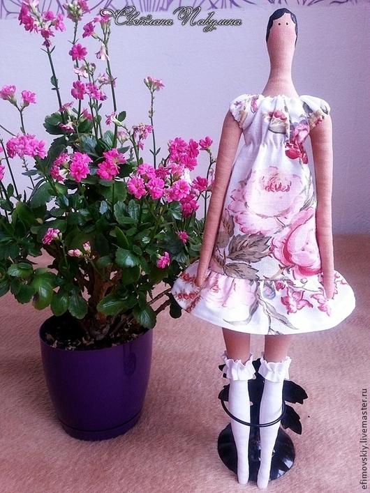 Куклы Тильды ручной работы. Ярмарка Мастеров - ручная работа. Купить Тильда. Handmade. Разноцветный, подарок на 8 марта, лён
