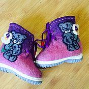 """Обувь детская ручной работы. Ярмарка Мастеров - ручная работа Валенки ботинки детские""""Мишки"""". Handmade."""