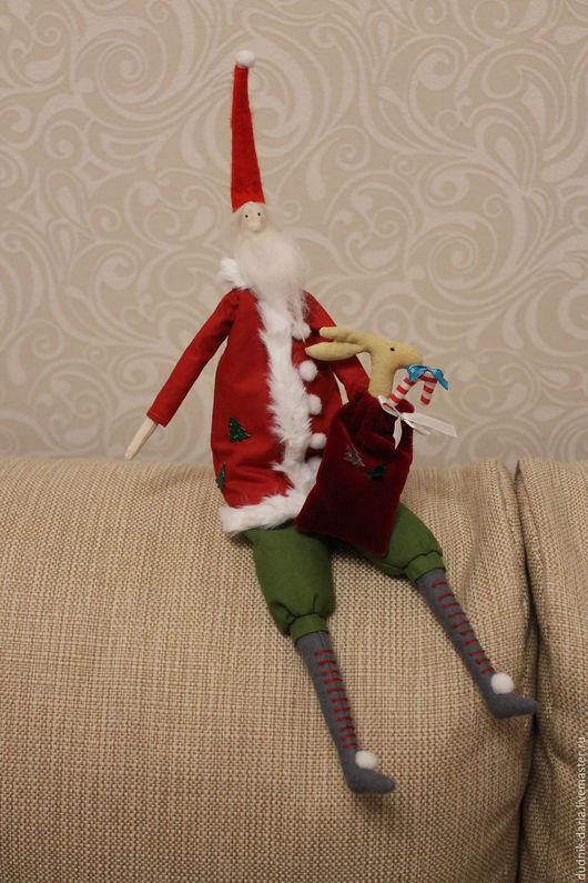 Куклы Тильды ручной работы. Ярмарка Мастеров - ручная работа. Купить Санта Клаус в стиле Тильда. Handmade. Комбинированный