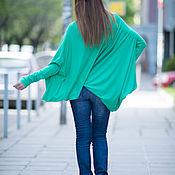 Одежда handmade. Livemaster - original item Blouse mint color cotton TP0499TR. Handmade.