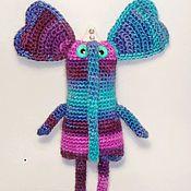 Куклы и игрушки ручной работы. Ярмарка Мастеров - ручная работа Вязаная слониха Фаина. Handmade.