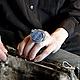 Кольца ручной работы. Ярмарка Мастеров - ручная работа. Купить Кольцо с лазуритом «Синева». Handmade. Тёмно-синий, натуральный камень