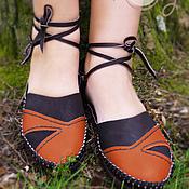"""Обувь ручной работы. Ярмарка Мастеров - ручная работа Кожаные сандалии """"Dipped in Dark Chocolate"""". Handmade."""