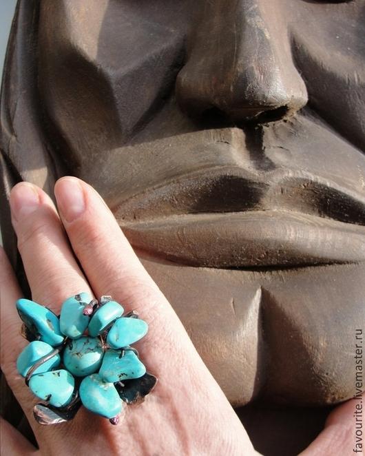 Кольца ручной работы. Ярмарка Мастеров - ручная работа. Купить Кольцо из меди «Цвет бирюзы» (color turquoise). Handmade. Бирюзовый