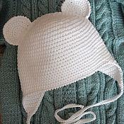 """Работы для детей, ручной работы. Ярмарка Мастеров - ручная работа шапочка"""" Мышка беленькая"""".. Handmade."""
