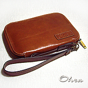 Сумки и аксессуары handmade. Livemaster - original item The man purse leather red. Handmade.
