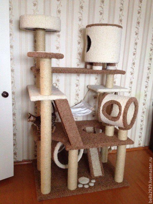 """Аксессуары для кошек, ручной работы. Ярмарка Мастеров - ручная работа. Купить Комплекс-когтеточка """"Белла"""". Handmade. Комплекс для кошек"""