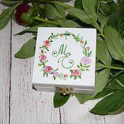 Свадебный салон ручной работы. Ярмарка Мастеров - ручная работа Viva Italia - свадебная шкатулка для обручальных колец. Handmade.