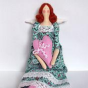 Куклы и игрушки ручной работы. Ярмарка Мастеров - ручная работа Рыжеволосые тильды в голубом. Handmade.