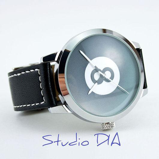 Оригинальные Дизайнерские Часы Бильярдный Шар. Студия Дизайнерских Часов DIA.