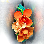 Подарки к праздникам ручной работы. Ярмарка Мастеров - ручная работа Заколка-крокодил с цветами. Handmade.