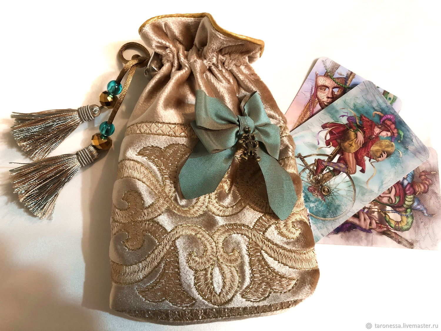 Bag 14h21 cm for Tarot cards, oracles, runes or crystals, Baggie, Noginsk,  Фото №1