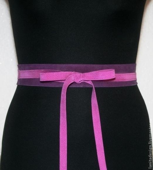 """Пояса, ремни ручной работы. Пояс 2в1 """"Violet Mix 4"""" модель 1. Lanita Design. Ярмарка Мастеров."""