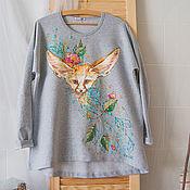 Одежда handmade. Livemaster - original item a-line sweatshirt Fenech. Handmade.
