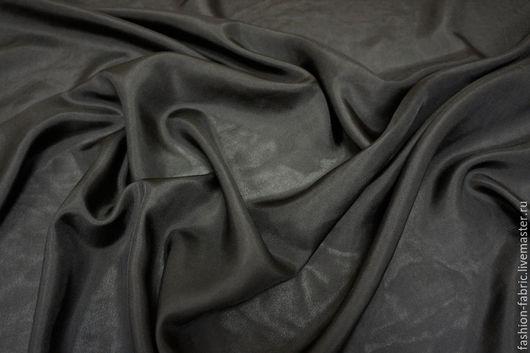 Шитье ручной работы. Ярмарка Мастеров - ручная работа. Купить Ткань Шелк подкладочный черный PRT 16081610 Италия Цена за метр. Handmade.
