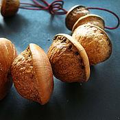 Материалы для творчества handmade. Livemaster - original item Beads the fruits of the tree Lithocarpus. Handmade.