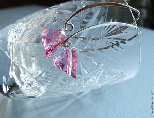 """Серьги ручной работы. Ярмарка Мастеров - ручная работа. Купить Серьги """"Нежные"""". Handmade. Розовый, подарок, подарок подруге"""
