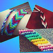Украшения ручной работы. Ярмарка Мастеров - ручная работа браслеты из ниток мулине. Handmade.