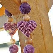 Одежда ручной работы. Ярмарка Мастеров - ручная работа Слингобусы Фиолетовые сердца. Handmade.