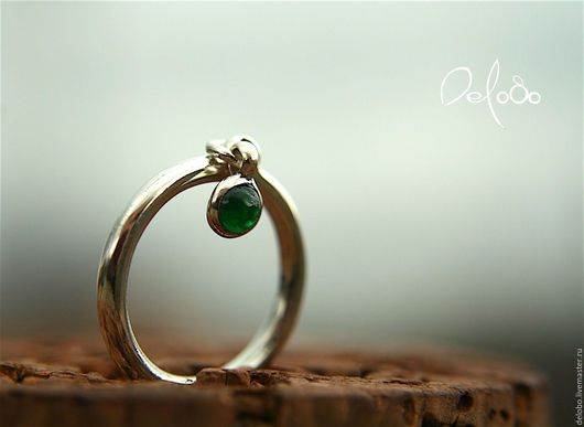 Кольца ручной работы. Ярмарка Мастеров - ручная работа. Купить Изумруд/Серебряное кольцо с изумрудом. Handmade. Изумруд кольцо серебро