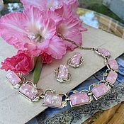 Винтаж handmade. Livemaster - original item Fairy tale-confetti by Coro-necklace and clips.. Handmade.