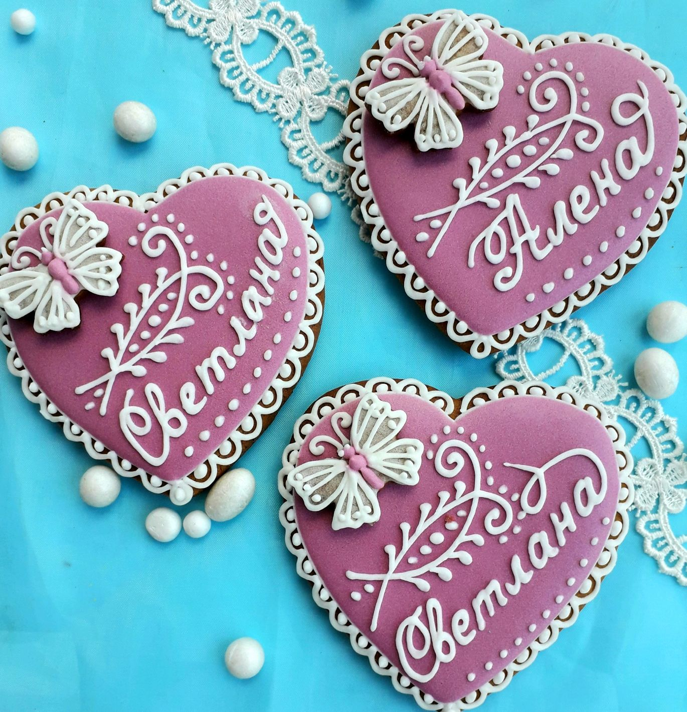 Gingerbread-card Heart with butterfly. Cakes for guests, Gingerbread Cookies Set, Rostov-on-Don,  Фото №1