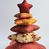 Сувениры и подарки handmade. Livemaster - original item Christmas tree made of patchwork fabric. Handmade.