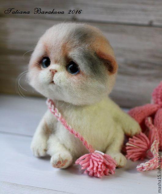 """Куклы и игрушки ручной работы. Ярмарка Мастеров - ручная работа. Купить Валяная кошечка """"Муся"""". Handmade. Кошка, котенок из шерсти"""