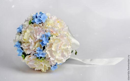 Свадебные цветы ручной работы. Ярмарка Мастеров - ручная работа. Купить Букет невесты. Handmade. Голубой, букет для невесты