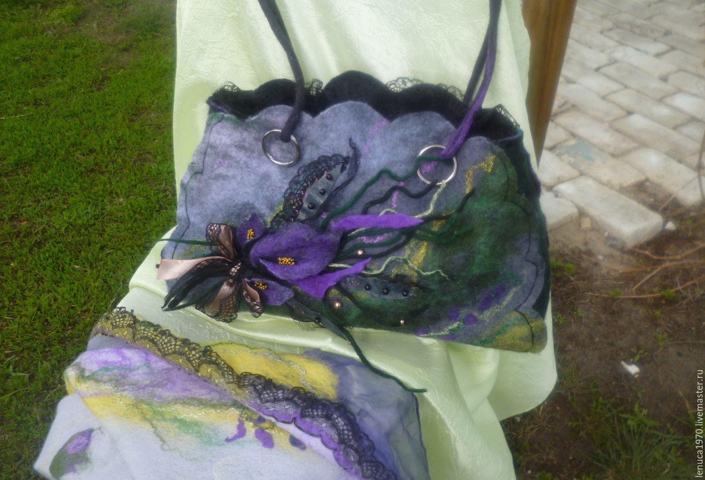 Handbags handmade. Livemaster - handmade. Buy Bag felted Summer evening.Felt bag, art bag, buy felted bag